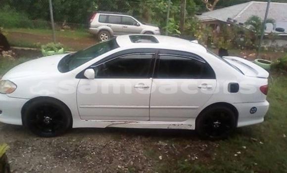 Buy Imported Toyota Corolla White Car in Apia in Tuamasaga